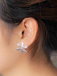 Women's Fashion Metal Snowflake Stud Earrings