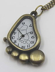 Cute Sole Shaped Pocket Watch Sweater Necklace
