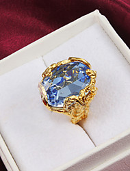 18k Gold Fashion Zircon Statement Rings Party/Daily
