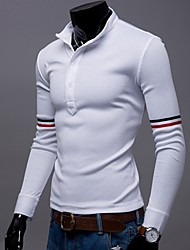 Men's Business Casual Long Sleeved Polos