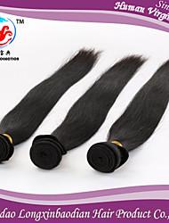 """trois faisceaux 8-26 """"soie style de mode 6a couleur naturelle droite 100% remy briazilian cheveu humain trame"""