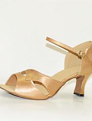 Sapatos de Dança(Amarelo) -Feminino-Personalizável-Latina / Jazz / Salsa / Sapatos de Swing