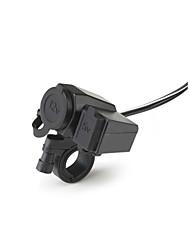 Горячая сигареты мотоцикл 2.1a легче USB разъем телефона зарядное устройство водонепроницаемый