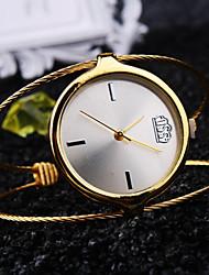Mulheres Relógio de Moda Quartz Impermeável Metal Banda Prata / Dourada / Ouro Rose marca-