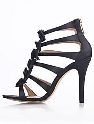 Homme-Mariage Habillé Soirée & Evénement-Noir-Talon Aiguille-Confort Light Up Chaussures-Sandales-Soie
