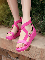 Women's Shoes  Wedge Heel Wedges Sandals Office & Career/Dress Brown/Red/White/Beige