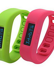 Smart Sport Watch Wireless Bluetooth Healthy Bracelet Wristband Watch Jelly Multi-Color OLED Pedometer
