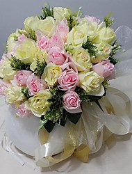 Bouquet sposa Tondo Rose Bouquet Raso 30cm