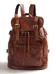 Imported leather Backpacks men and women leather leisure travel backpack