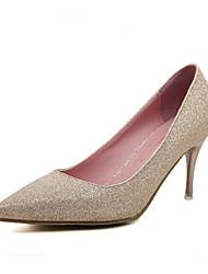 Women's Shoes  Stiletto Heel Heels/Platform/Pointed Toe/Closed Toe Pumps/Heels Casual Black/Silver/Gold