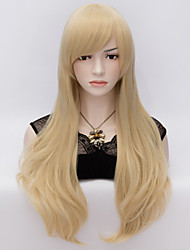 70cm Style Natural Straight Fashion Women Party Wigs Heat Resist Synhtetic Cosplay costume Wig Blonde