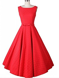 Women's Vintage Fashion A Line Sleeveless Knee-length Dress (More Colors)