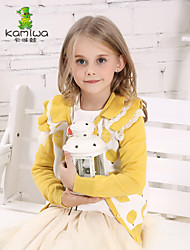 KAMIWA®Girl's Spring/Fall Lace Green/Yellow Wave-like Full Shirts/Cardigans/Hoodies Sweatshirts Kids Clothing(Cotton)