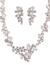 Neoglory Women's Necklace Earring Set for Wedding or Party with Zircon