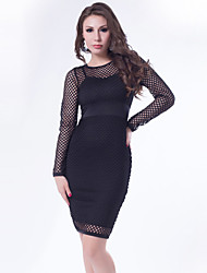 Hot Sale Quality Assurance Sexy Club Dress 2015 Black and White Women Dress Hollow out New Design Plus Size Dresses