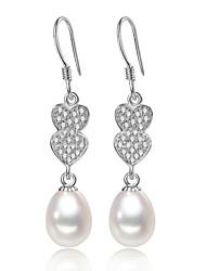 Z&X® Fashion Love Fresh Water Pearl/Rhinestone Drop Earrings Wedding/Party/Daily
