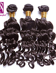 "3pcs/lot 12""-30""  Brazilian Virgin Dark Brown Nadi Curl Human Hair Extensions Hair Weaves"