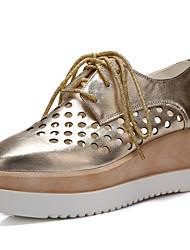 Zapatos de mujer - Tacón Cuña - Punta Cuadrada - Oxfords - Oficina y Trabajo / Vestido / Casual - Semicuero -Negro / Rosa / Blanco /