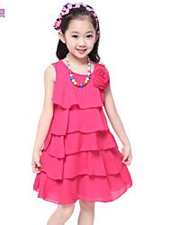 Vestido Chica de - Verano - Mezcla de Algodón - Sin Mangas