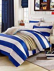 blau&weißen Bettlaken Kissenbezüge Bettbezug
