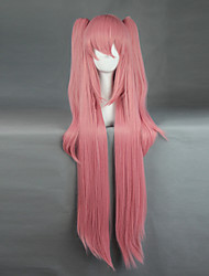 Cosplay Wigs Seraph of the End Cosplay Pink Long Anime Cosplay Wigs 100+60 CM Heat Resistant Fiber Male / Female