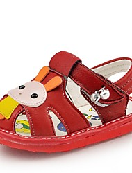 Baby Calçados Casual Courino Sandálias Preto/Vermelho