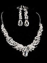 Elegant Marvelous Ladies Rhinestone Wedding Jewelry Set Including Necklace,Earrings