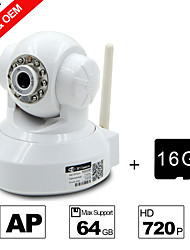 Besteye® 16GB TF Card and H.264 WIFI Camera IP HD 720P 1.0M Pixels PTZ IR Night Vision Wired or Wireless Camera WIFI