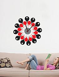 Moderne/Contemporain Inspiré Famille Amis Anniversaire Dessin animé Horloge murale,Rond Nouveauté Plastique PolyrésineIntérieur/Extérieur
