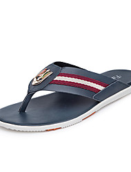 Sapatos Masculinos - Chinelos - Preto / Azul / Branco - Couro - Casual