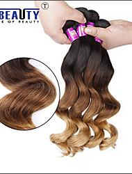 """1 pc / lotto 16 """"24"""" 7 bis 3t brasiliana dei capelli umani dei capelli vergini onda allentata trame 100% capelli non trattati remy"""
