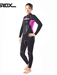 SLINX Women's Diving Suit Insulated/Ultraviolet Resistant/YKK Zipper/Thermal Wetsuits 3mm Black S/M/L/XL/XXL