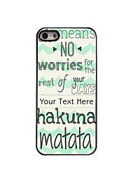 Personalized Gift Hakuna Matata Design Aluminum Hard Case for iPhone 5/5S