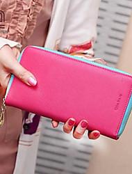 handcee® venta caliente simples mujeres del diseño de la PU del embrague billetera