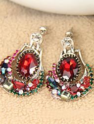 Manually set crystal delicate earrings adorn article