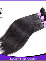 7A unprocessed virgin hair brazilian straight human hair bundles 1pcs machine weft silky straight hair 8-30 inch
