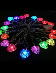 2w 4 metro lampadina diametro esterno 20pcs portato luci modellazione illuminazione stringa cuore di amore, di colore rgb