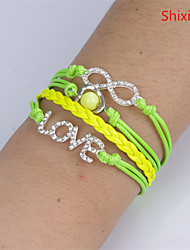Bracelet Leather Bracelet Alloy Daily / Casual Jewelry Gift Light Green / White / Green / Purple,1pc
