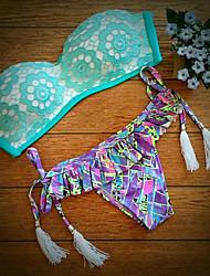 Women's 2015 Fashion Lady New Summer Sexy Swimsuit Bath Suit Push Swimwear Triangle Bikini