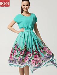 Muairen®Women'S Dress Fashion Casual Irregular Lace Collar