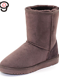 MG Warm Shoes Womens Boots Real Fur Twinface Sheepskin for Winter Boots