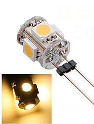 0.8W 5050SMD 5шт СИД G4 лампы свет с DC12V ввода, теплый белый / холодный белый вход