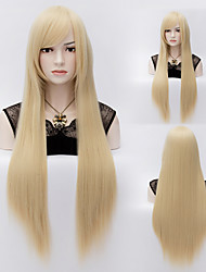 Hot Sale Bleach Blonde Straight Long 32 Inch  Lady Wigs Hair Beautiful Synthetic Hair Wigs