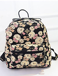 Women's Preppy Style Flower Series Backpack