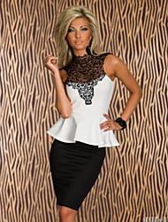 O.Mini  Women's Casual Sleeveless Tops & Blouses (Cotton)