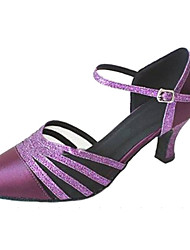 Женская обувь - Атлас/Мерцающая отделка Лиловый ) - Латино/Современный танец/Сальса/Обувь для стандартной программы
