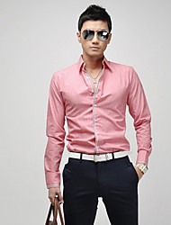 ZOMTOO Men's Casual Shirt Collar Long Sleeve Casual Shirts (Cotton/Cotton Blend/Polyester)