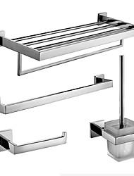 Badezimmer Zubehörset/Handtuchstangen/Klosettpapierrollehalter/Toilettenbürstehalter/Handtuchtrockner Zeitgenössisch - Wand befestigend