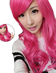 70Cm Rose Red Harajuku Long Curly Hair Wigs Lolita Sex Products Wigs Synthetic Wig Femme Anime Cheap Cosplay Wigs