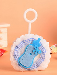 Baby Shower Baby Bottle On the Round Non Woven Fabric Candy Favor Gift Bags Set of 12